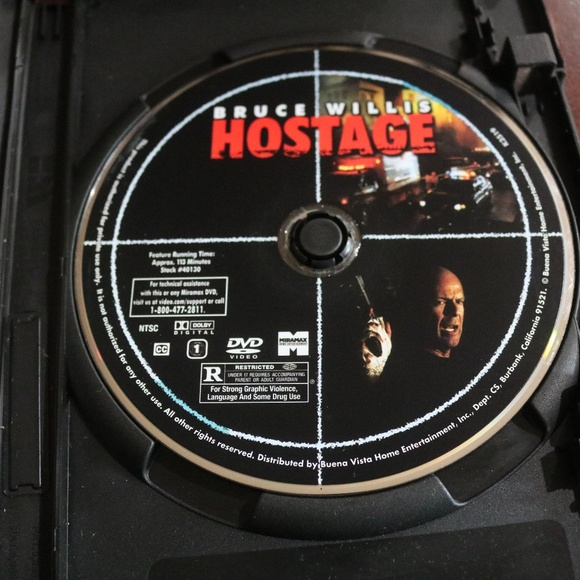 Hostage DVD Blank Case